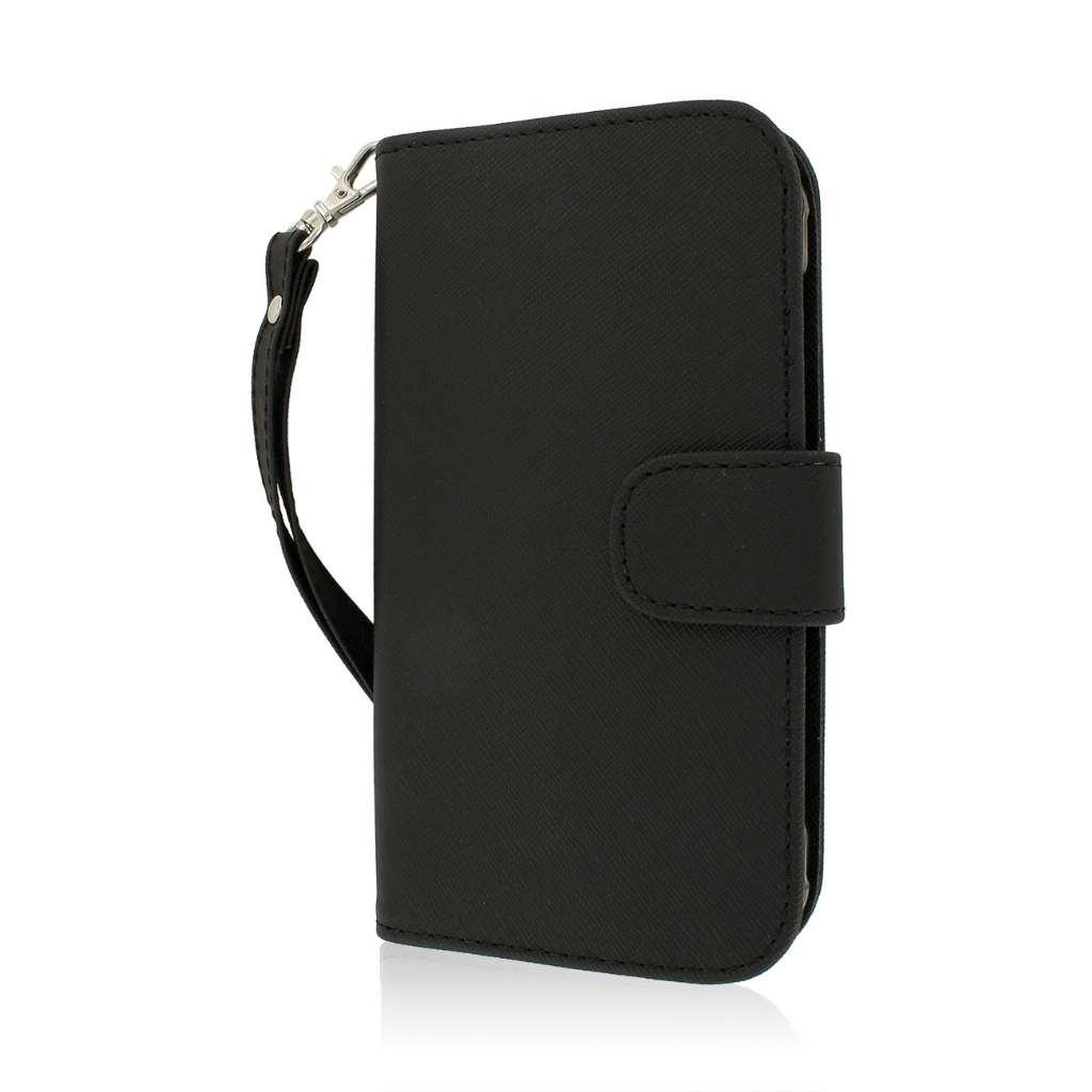 Samsung Galaxy S5 Active - Black MPERO FLEX FLIP Wallet Case Cover