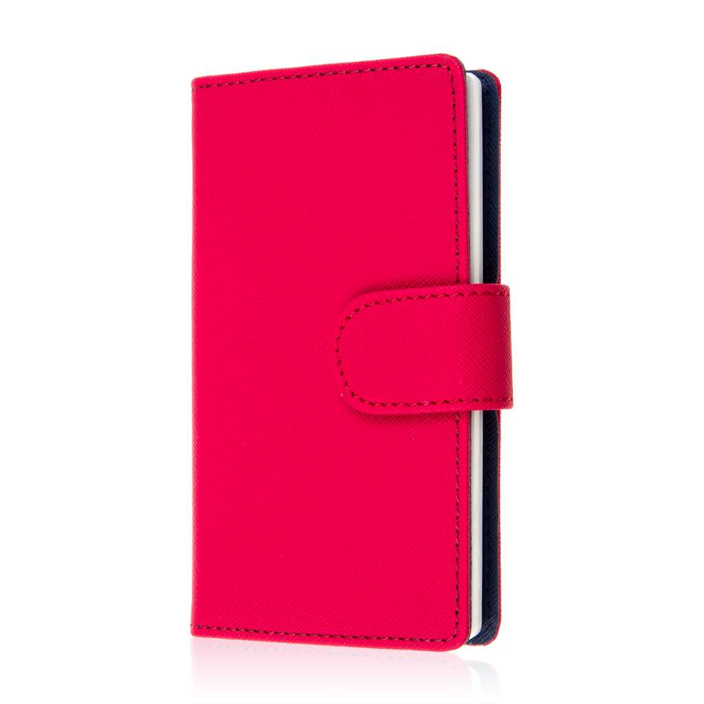 Sharp AQUOS Crystal - Hot Pink MPERO FLEX FLIP Wallet Case Cover
