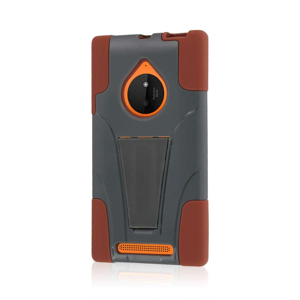 Nokia Lumia 830 - Sandstone / Gray MPERO IMPACT X - Kickstand Case Cover