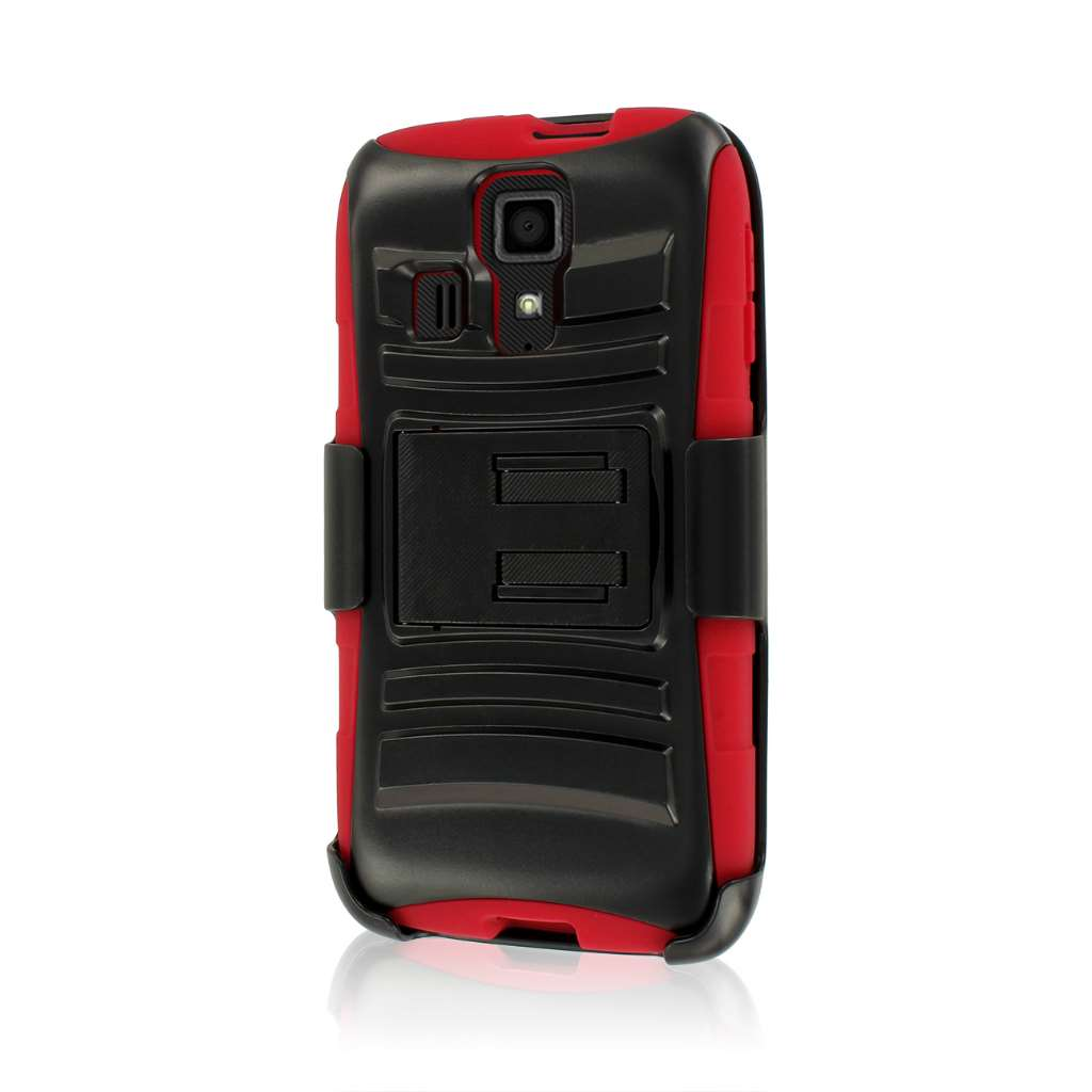 Kyocera Hydro Icon - Red MPERO IMPACT XT - Kickstand Case Cover