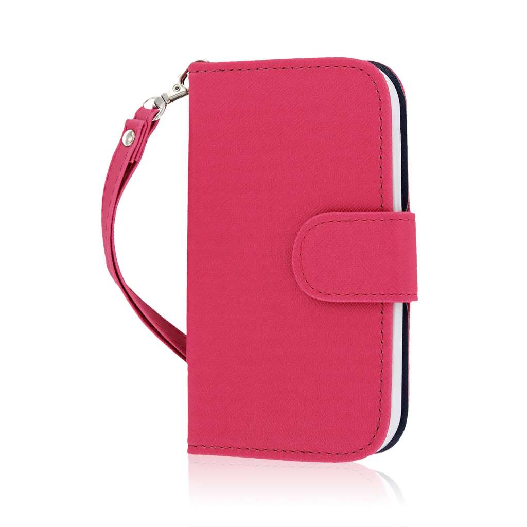 HTC One SV - Hot Pink MPERO FLEX FLIP Wallet Case Cover