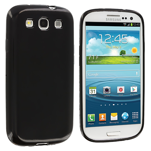 Samsung Galaxy S3 Black TPU Rubber Skin Case Cover