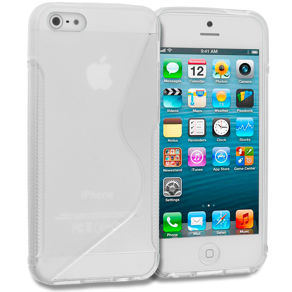 Apple iPhone 5/5S/SE Clear S-Line TPU Rubber Skin Case Cover