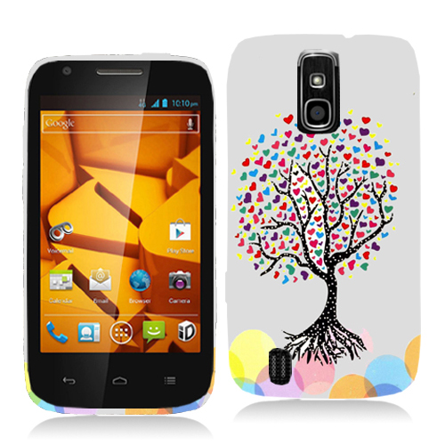 ZTE Force N9100 Love Tree on White Hard Rubberized Design Case Cover
