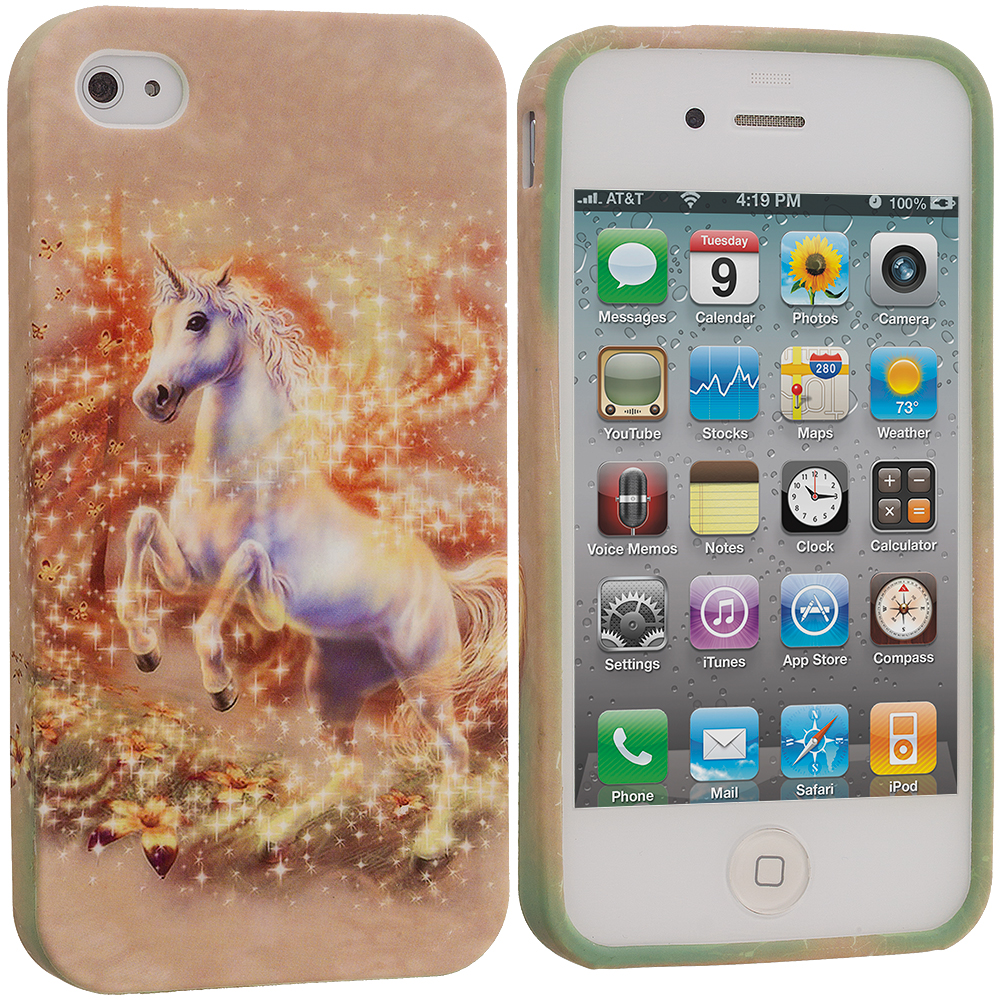 Apple iPhone 4 / 4S Unicorn TPU Design Soft Case Cover