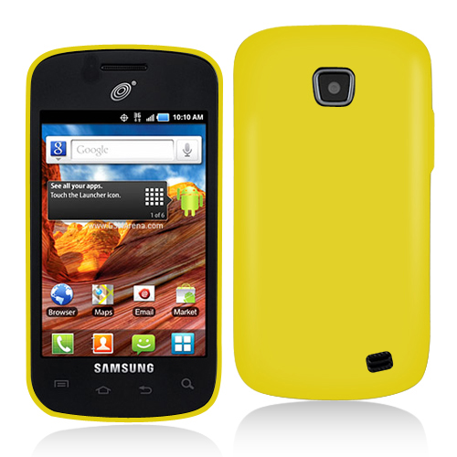 Samsung Proclaim S720C Yellow Hard Rubberized Case Cover