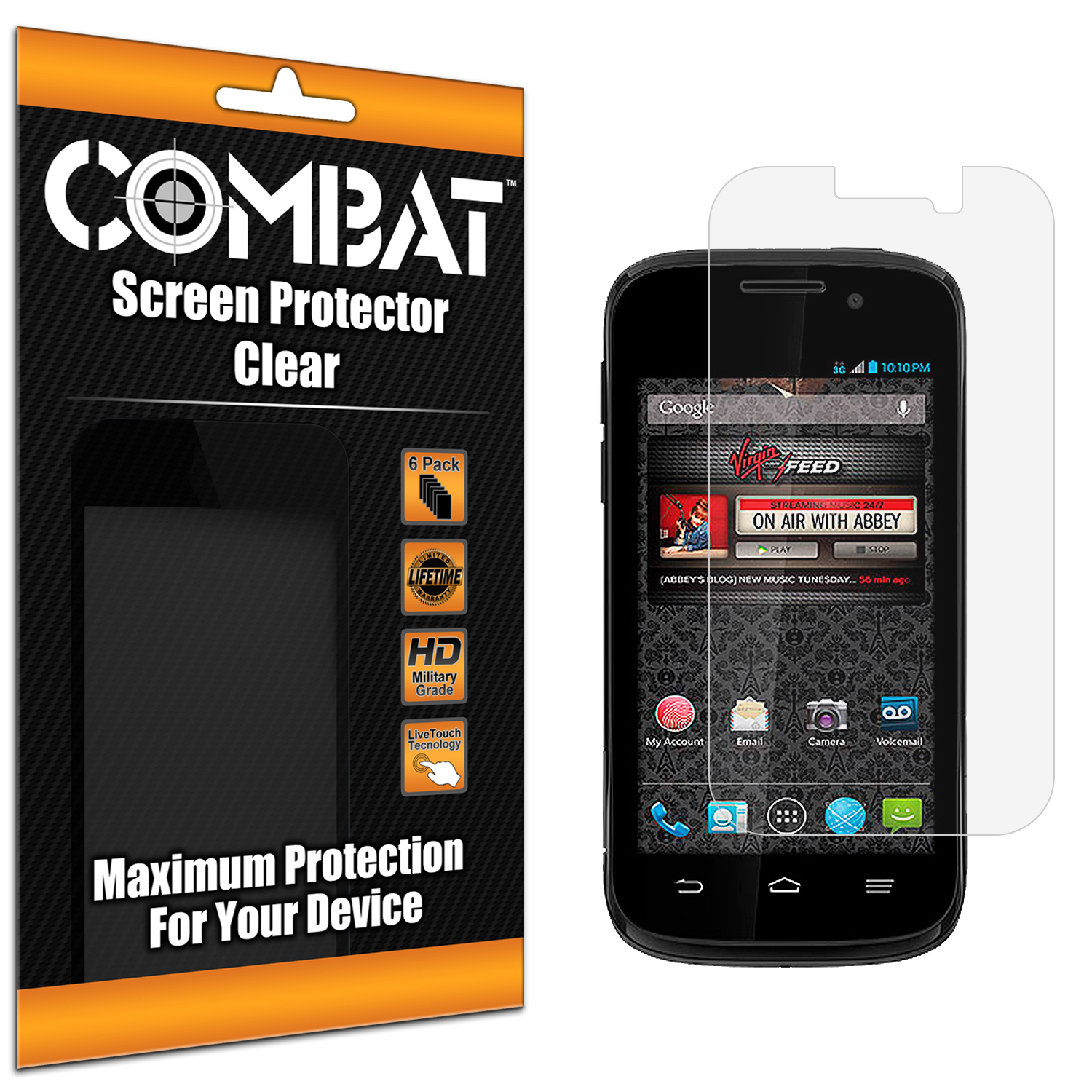 ZTE Reef N810 Combat 6 Pack HD Clear Screen Protector