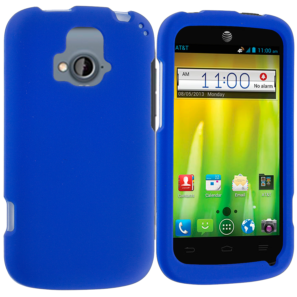 ZTE Radiant Blue Hard Rubberized Case Cover