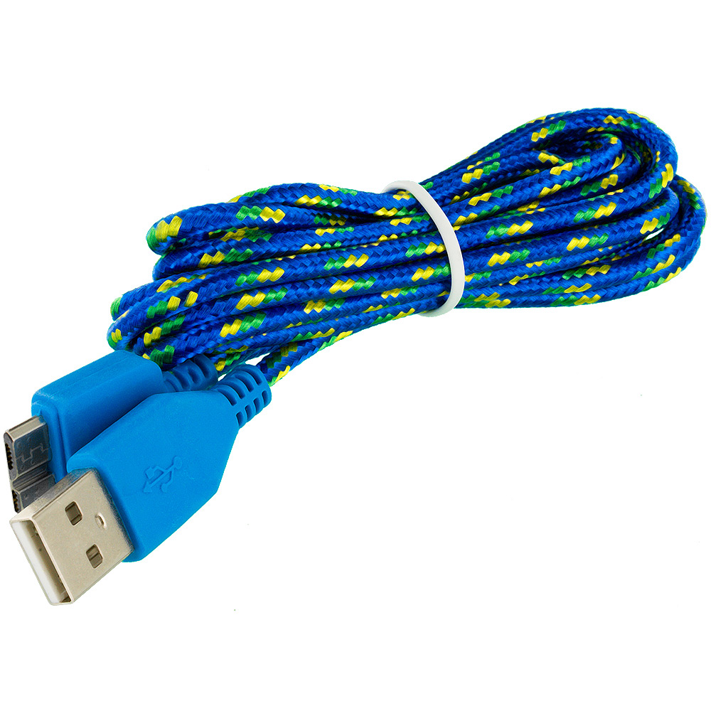 Cell Phone Cables : Braided rope usb data charger cable cord ft for cell