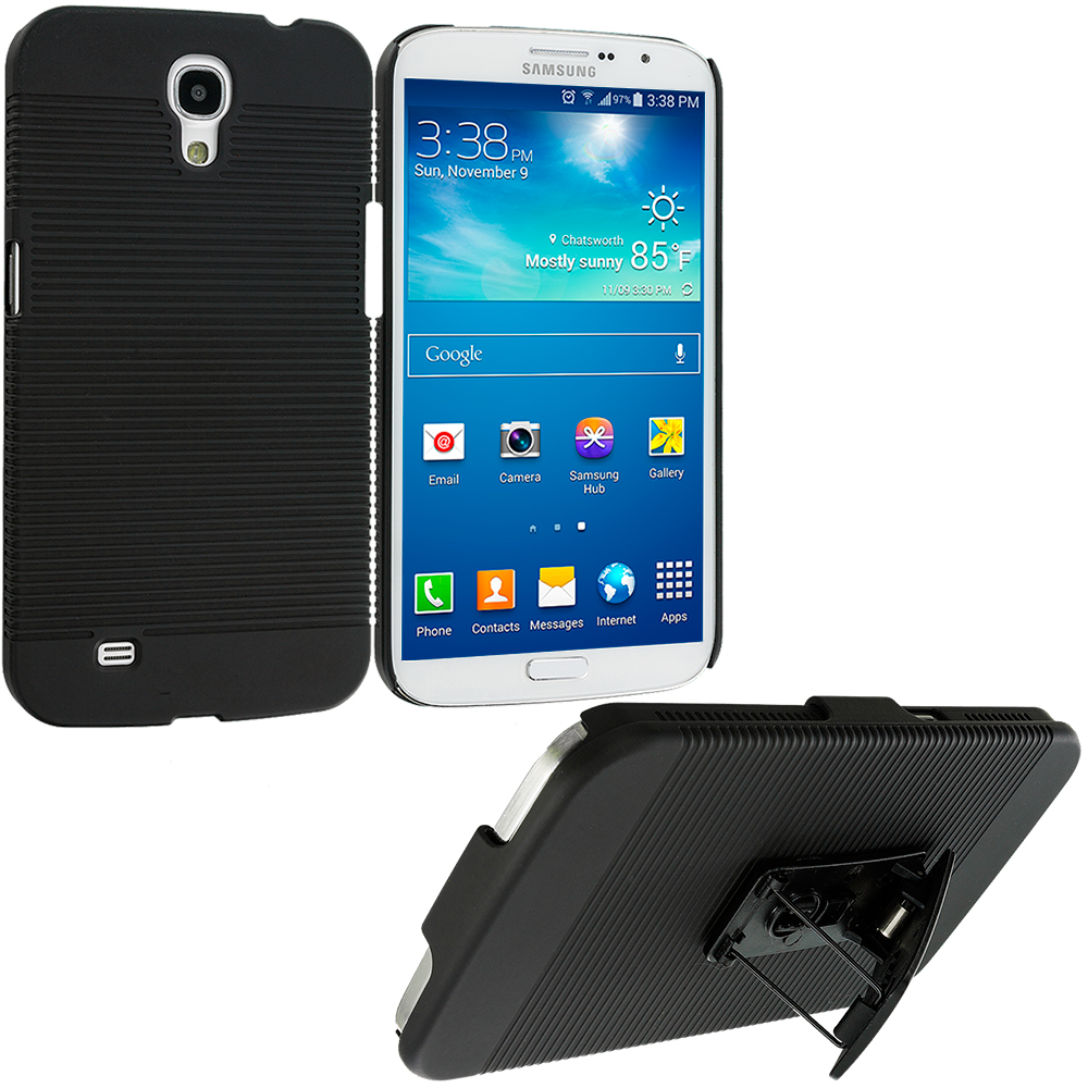 Samsung Galaxy Mega 6.3 Black Belt Clip Holster Hard Case Cover