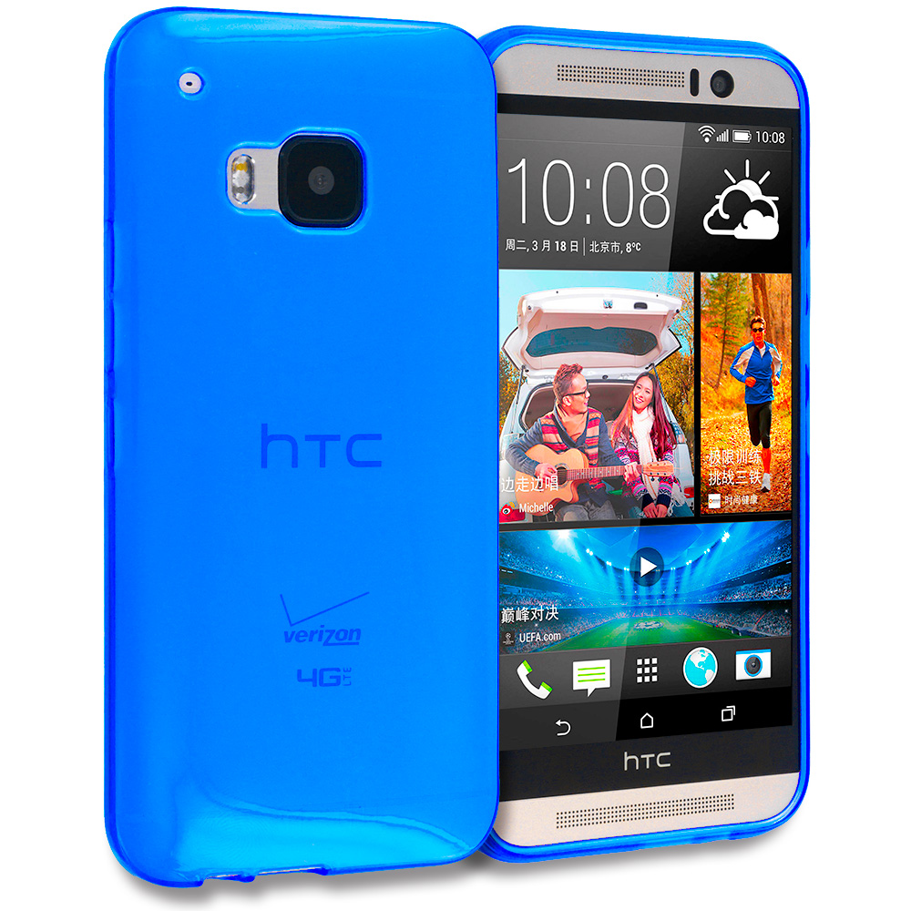HTC One M9 Blue TPU Rubber Skin Case Cover