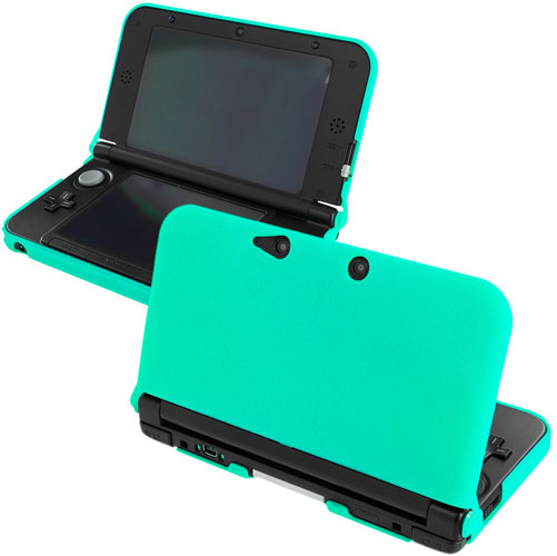 New 2015 Nintendo 3DS XL Mint Green Hard Rubberized Case Cover