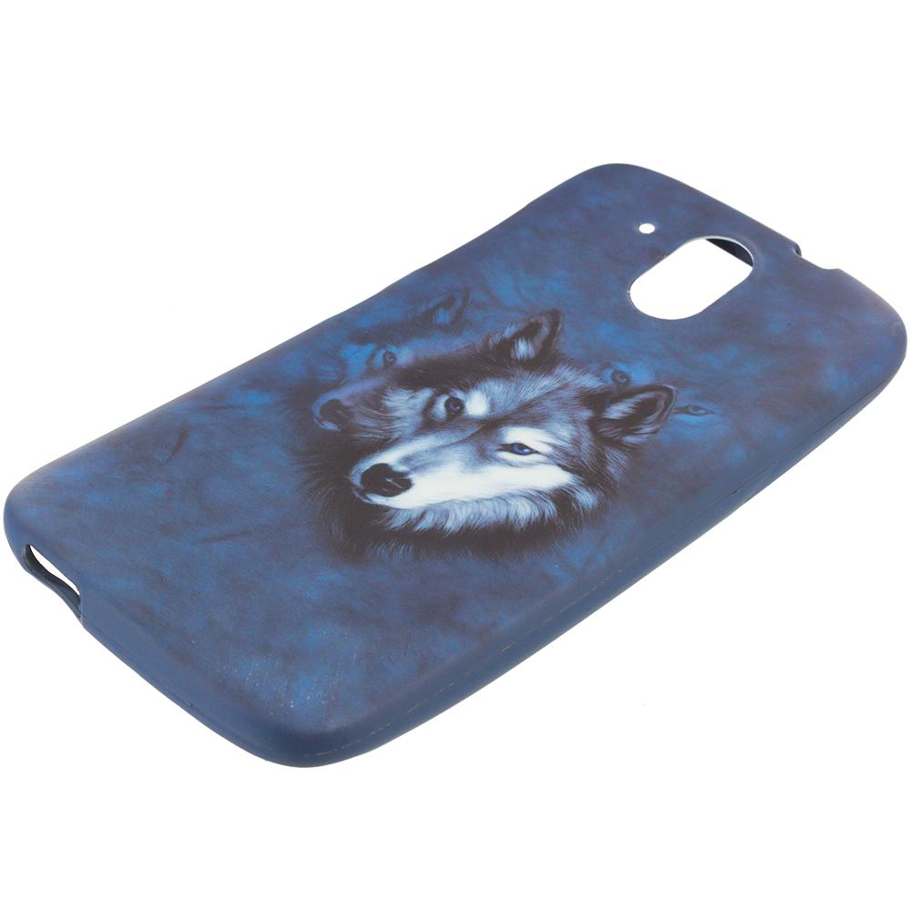 HTC Desire 526 Wolf TPU Design Soft Rubber Case Cover