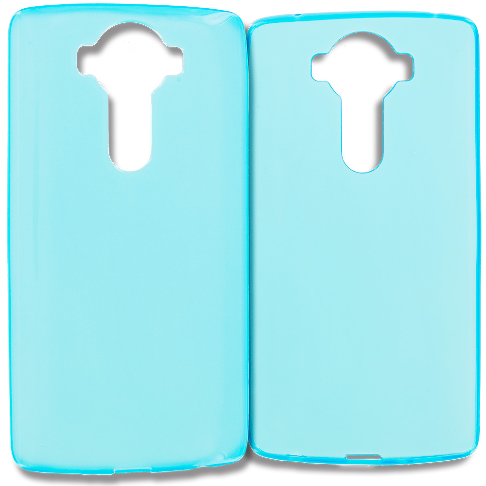 LG V10 Baby Blue TPU Rubber Skin Case Cover