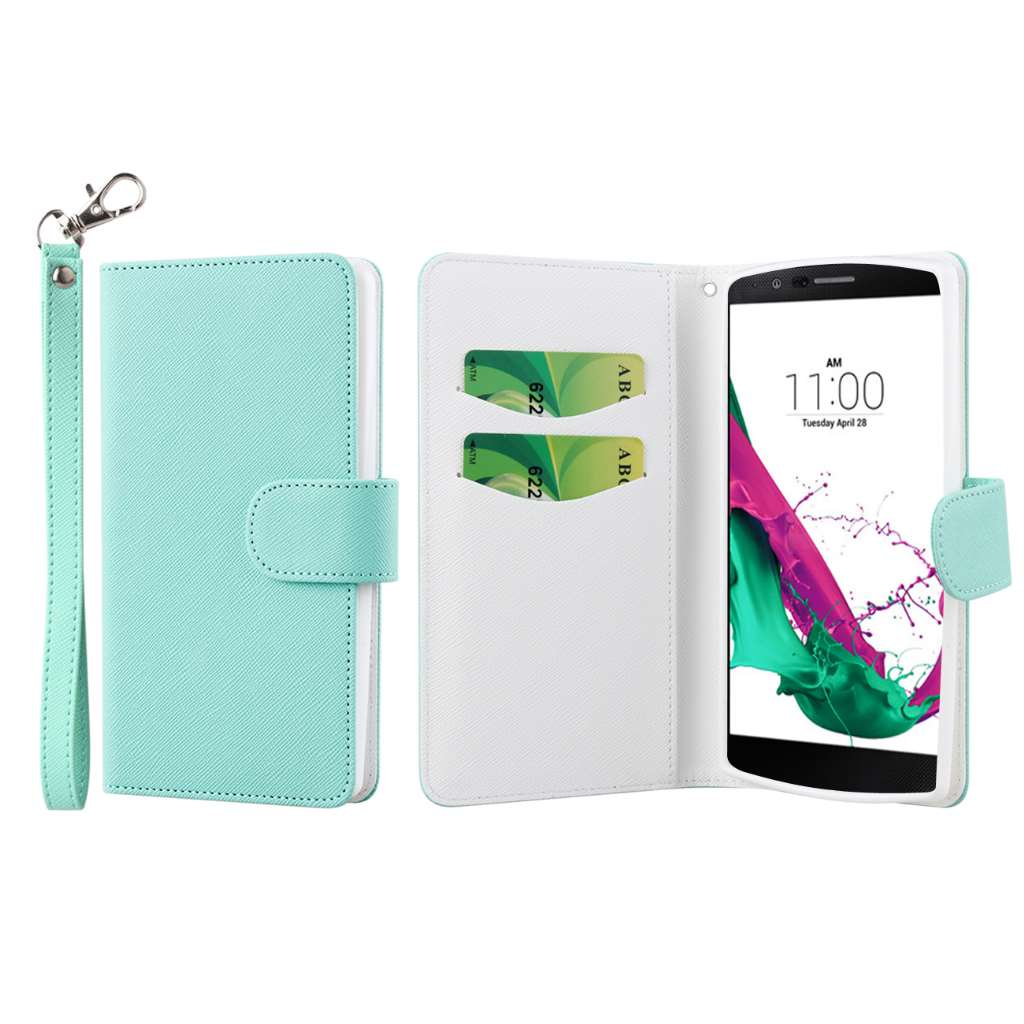 LG G4 - Mint MPERO FLEX FLIP Wallet Case Cover