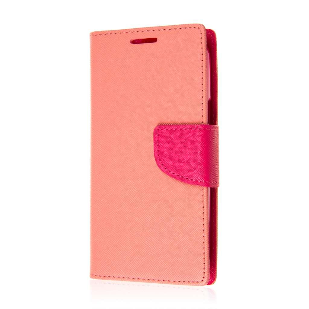 ZTE Warp Sync - Pink MPERO FLEX FLIP 2 Wallet Stand Case Cover