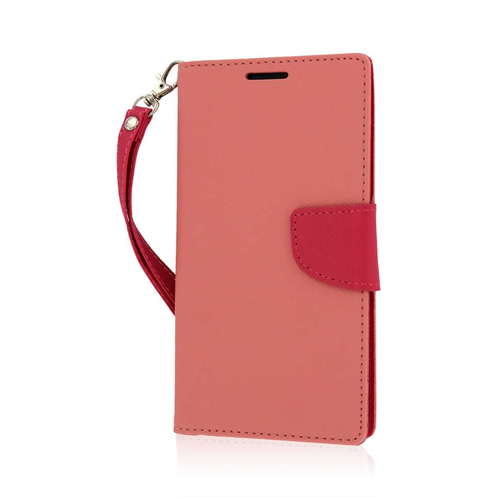 LG G Vista - Pink MPERO FLEX FLIP 2 Wallet Stand Case Cover