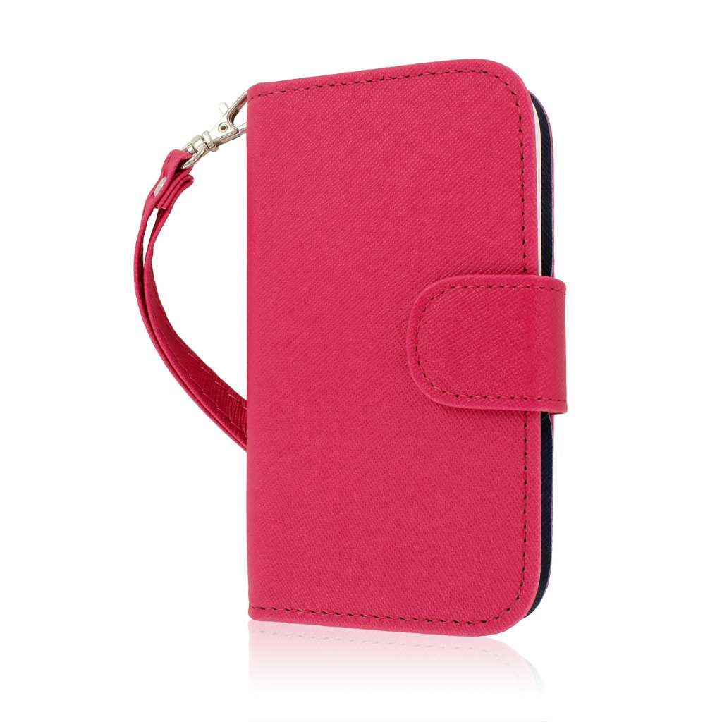 ZTE Concord 2 - Hot Pink MPERO FLEX FLIP Wallet Case Cover