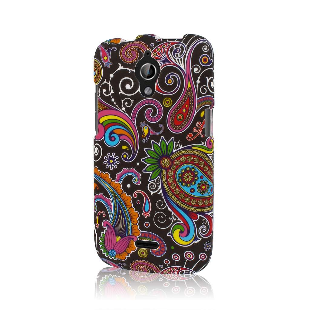 Huawei Vitria - Black Paisley MPERO SNAPZ - Rubberized Case Cover