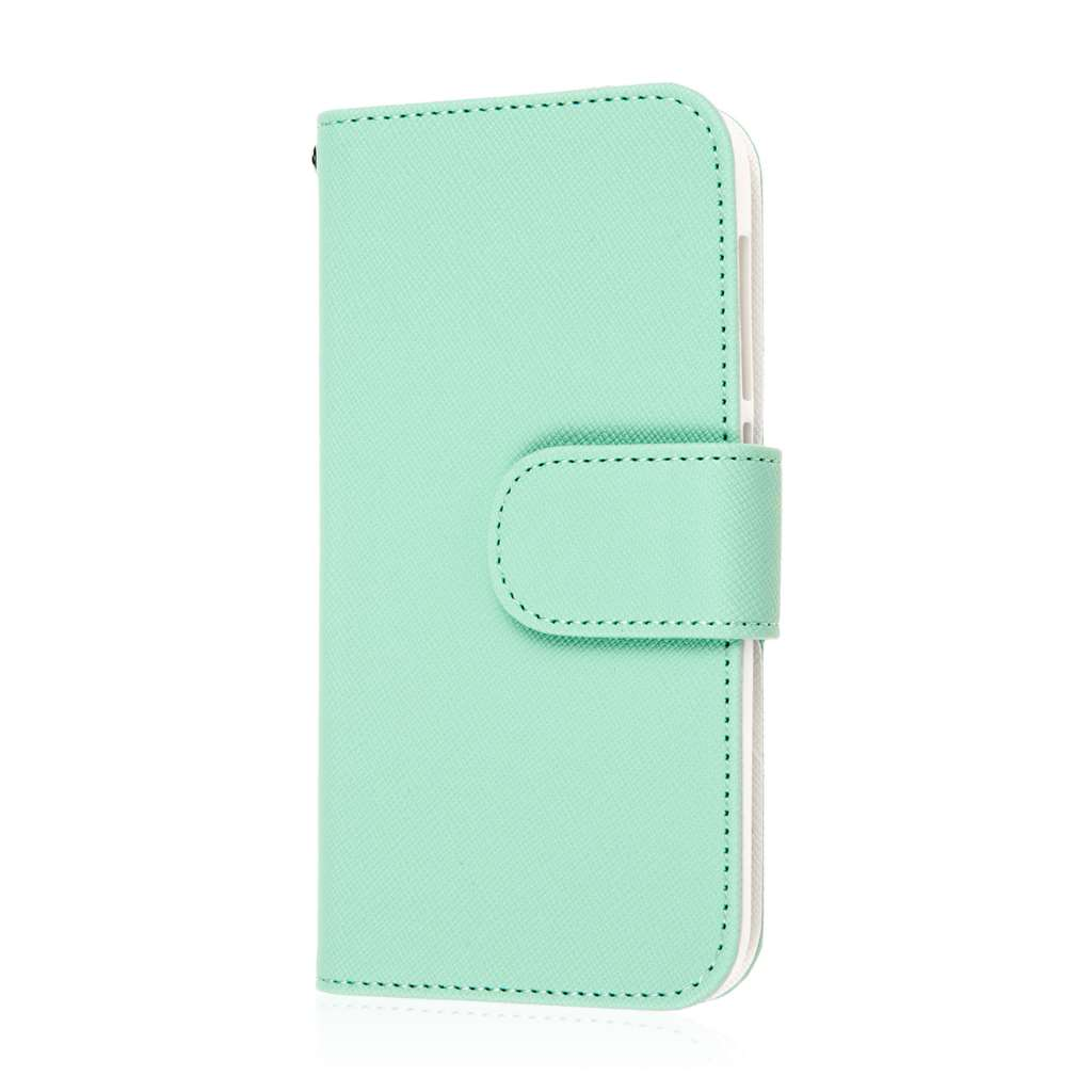 Alcatel OneTouch POP Astro - Mint Green MPERO FLEX FLIP Wallet Case Cover