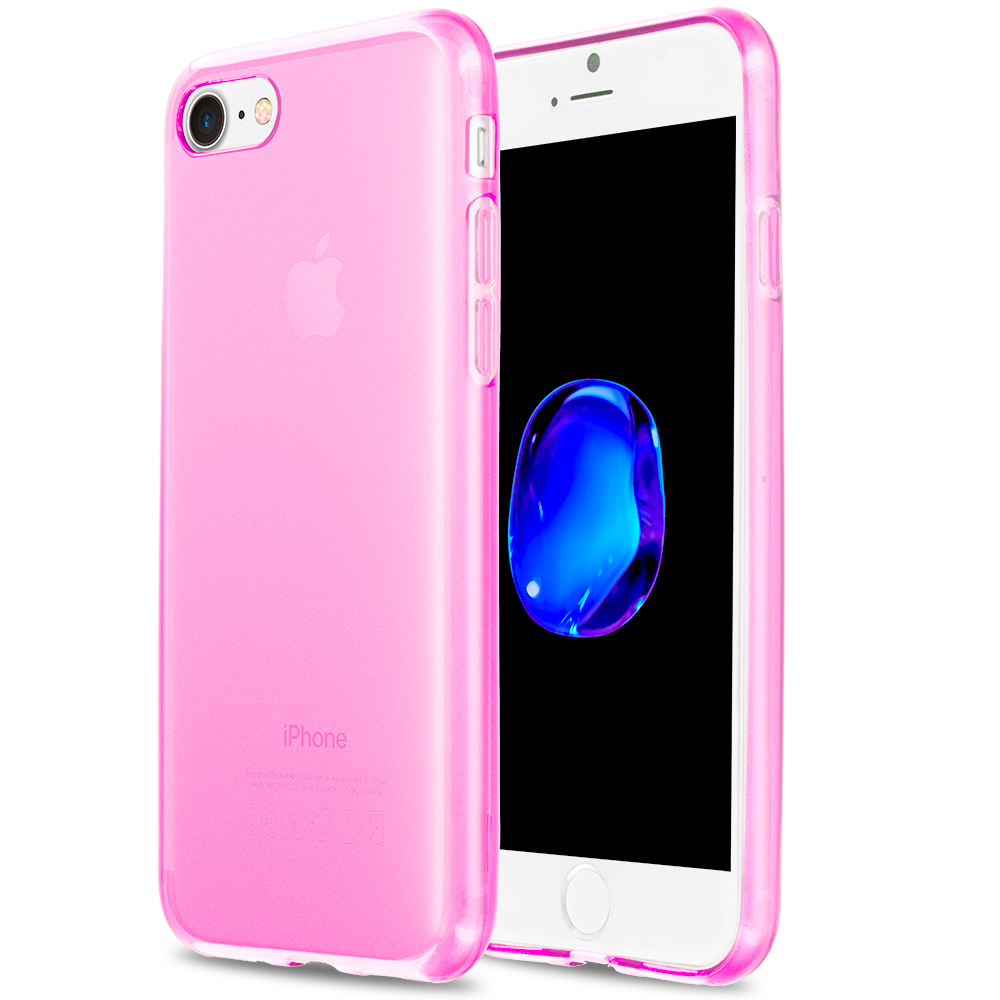 Apple iPhone 7 Hot Pink TPU Rubber Skin Case Cover