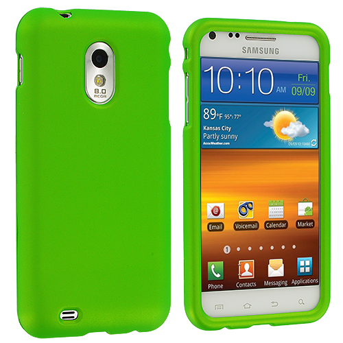 Samsung Epic Touch 4G D710 Sprint Galaxy S2 Neon Green Hard Rubberized Case Cover