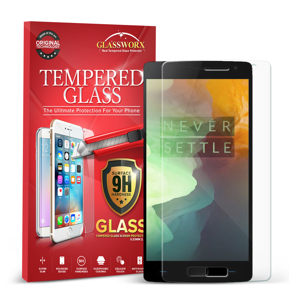 OnePlus 2 Two GlassWorX HD Clear Tempered Glass Screen Protector