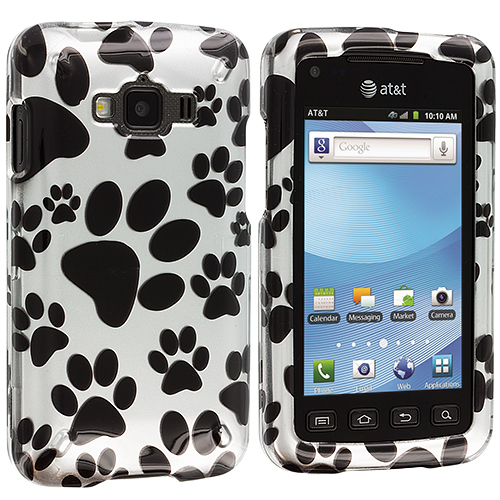 Samsung Rugby Smart i847 Dog Paw Design Crystal Hard Case Cover