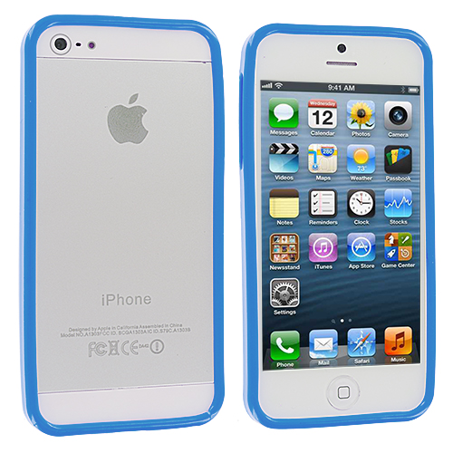 Apple iPhone 5 Blue Solid TPU Bumper