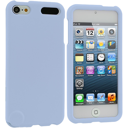 Apple iPod Touch 5th 6th Generation Baby Blue Hard Rubberized Case Cover