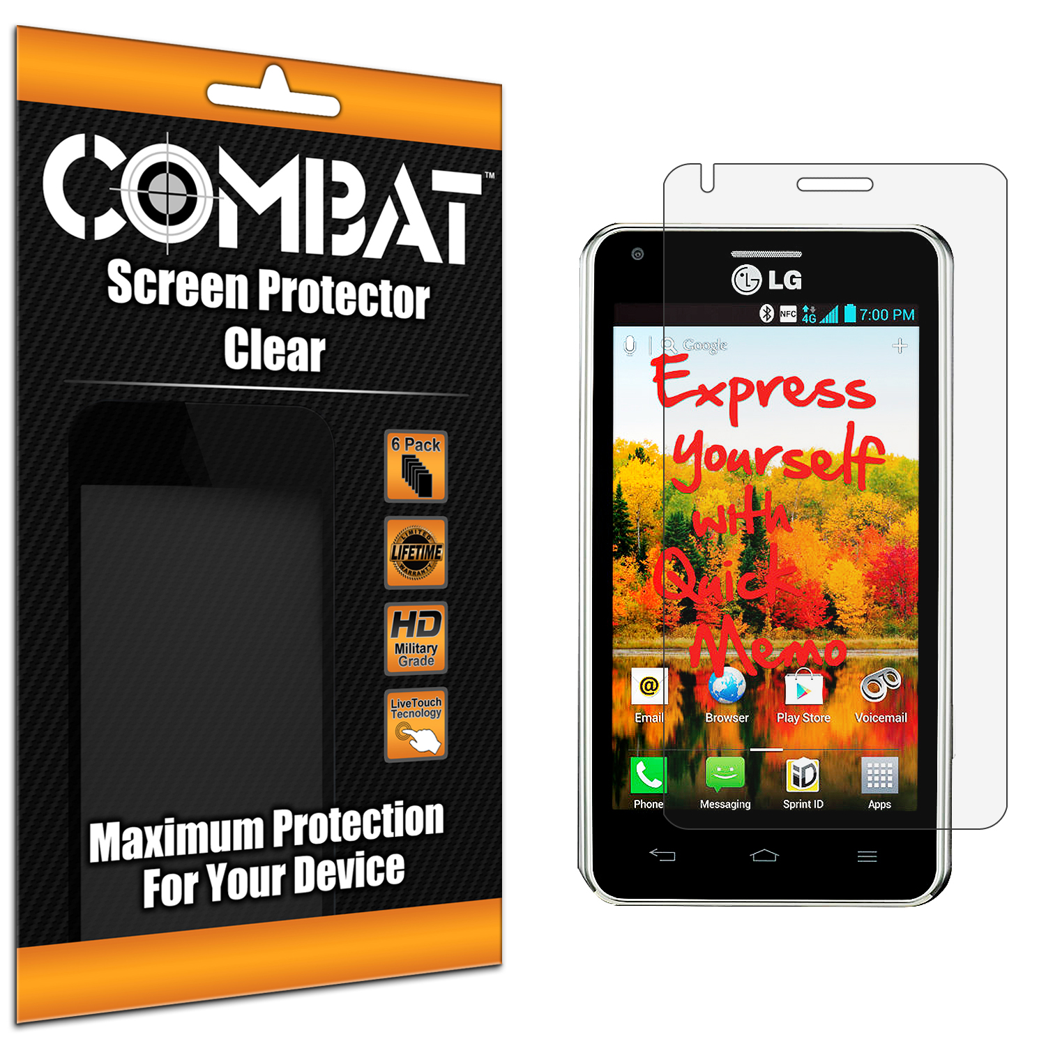 LG Mach LS860 Combat 6 Pack HD Clear Screen Protector