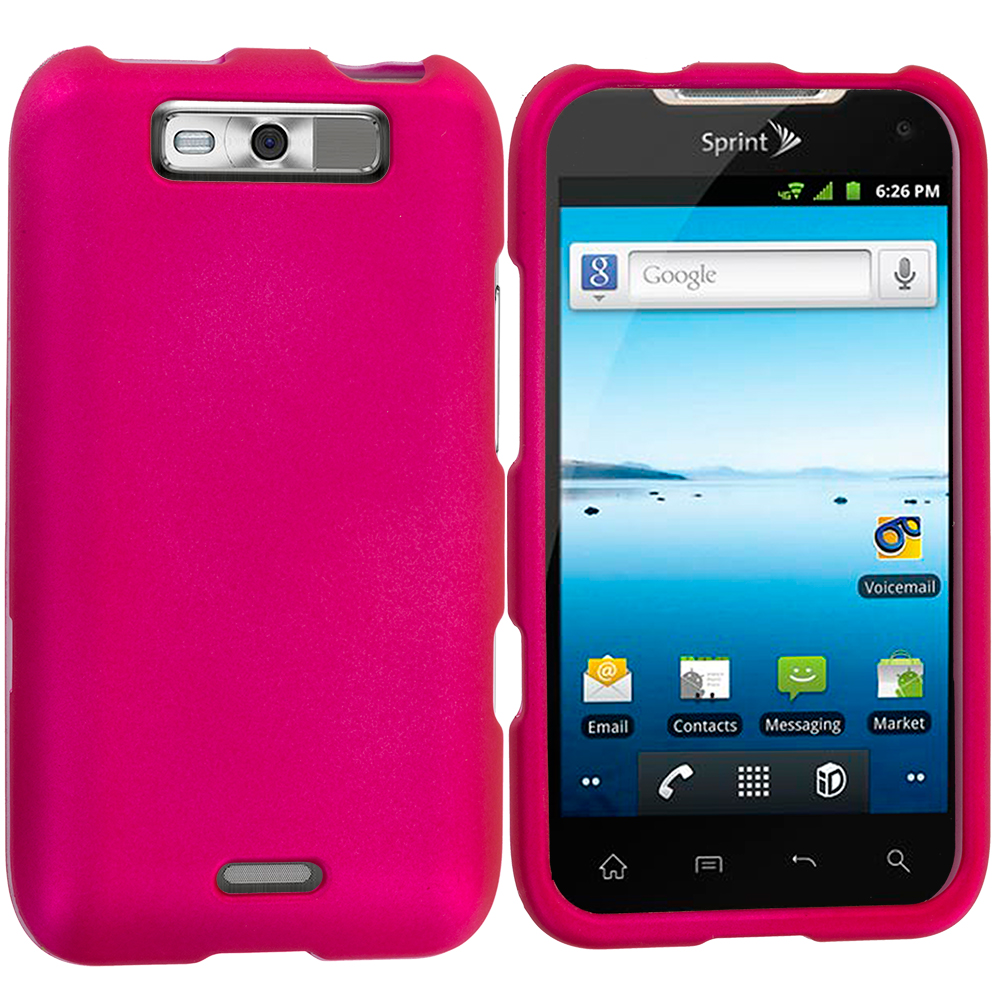 LG Viper / Connect Hot Pink Hard Rubberized Case Cover