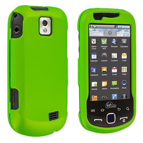 Samsung Intercept i910 Neon Green Hard Rubberized Case Cover