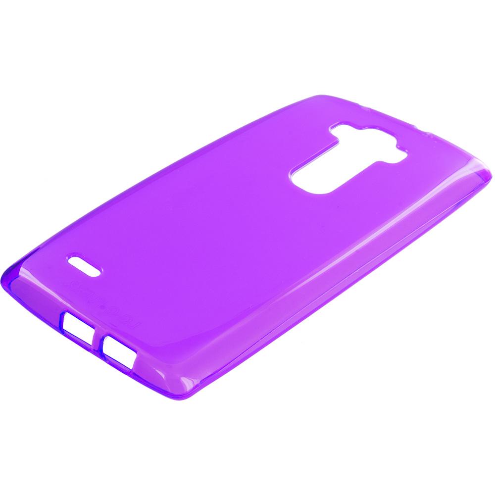 LG G Flex 2 Purple TPU Rubber Skin Case Cover