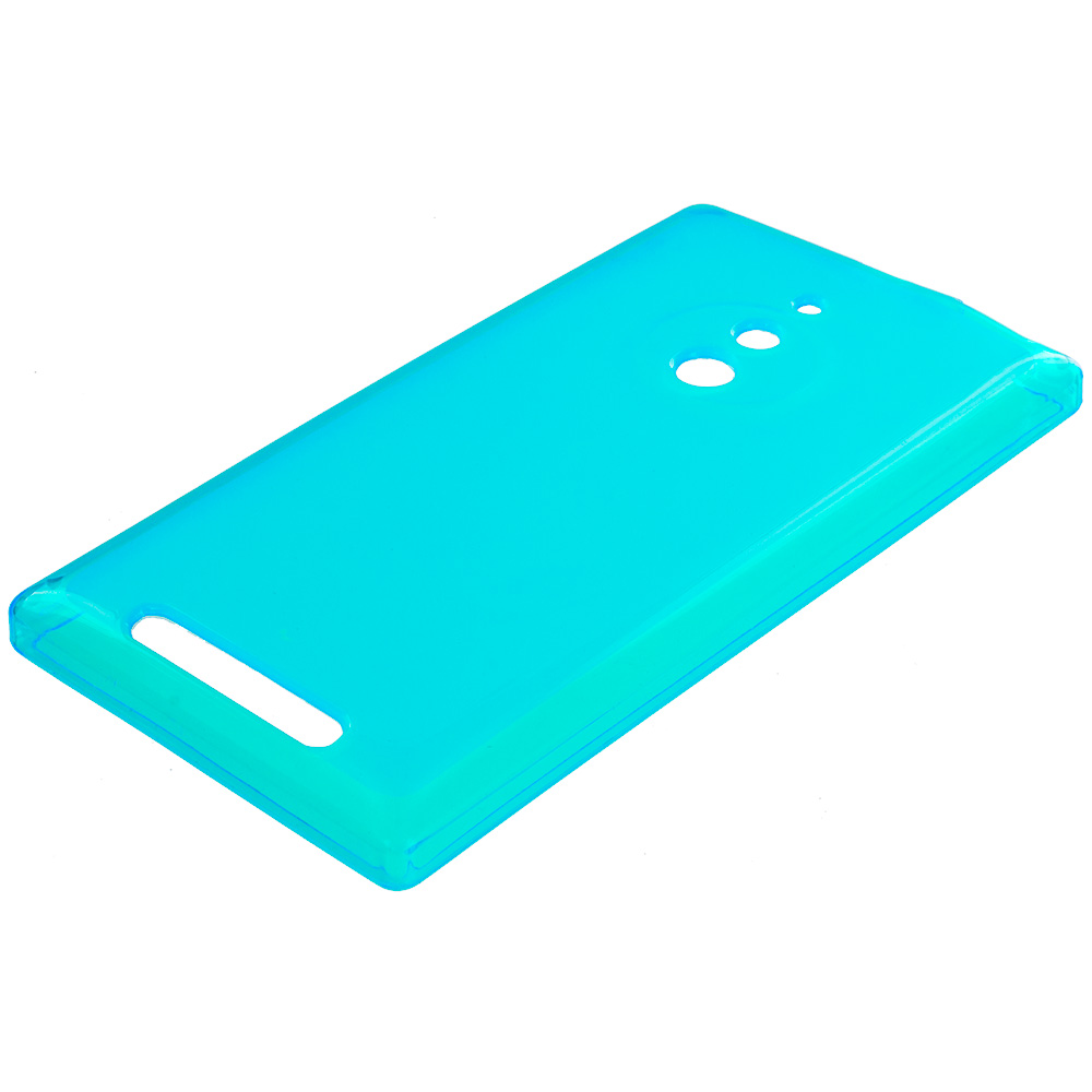 Nokia Lumia 830 Baby Blue TPU Rubber Skin Case Cover