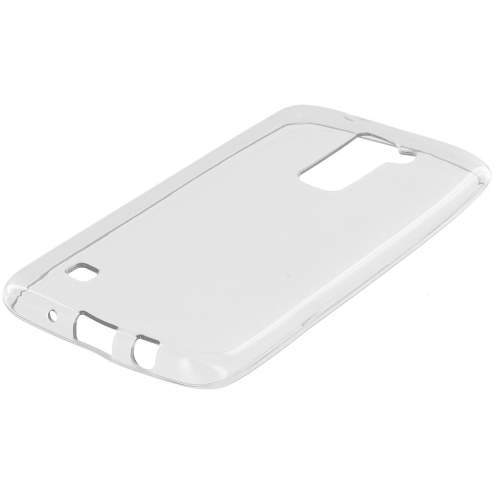 LG Tribute 5 K7 Clear TPU Rubber Skin Case Cover