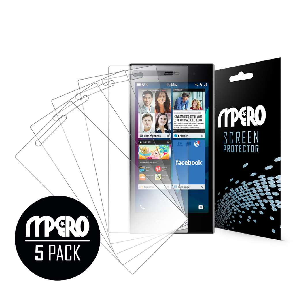 BlackBerry Leap MPERO 5 Pack of Ultra Clear Screen Protectors