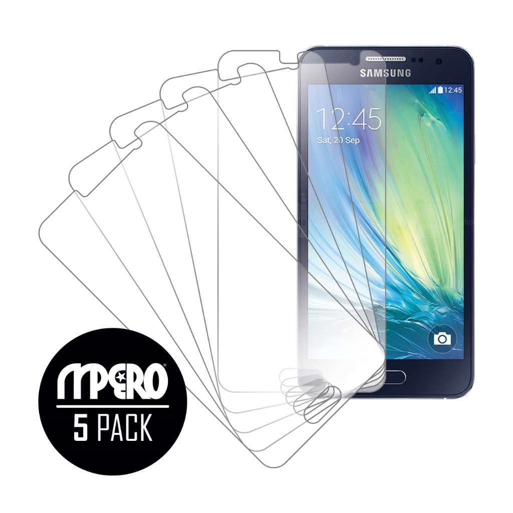 Samsung Galaxy A3 MPERO 5 Pack of Ultra Clear Screen Protectors