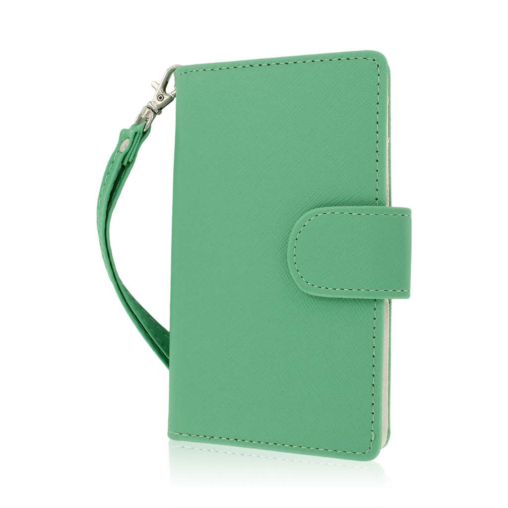 Nokia Lumia 925 - Mint MPERO FLEX FLIP Wallet Case Cover