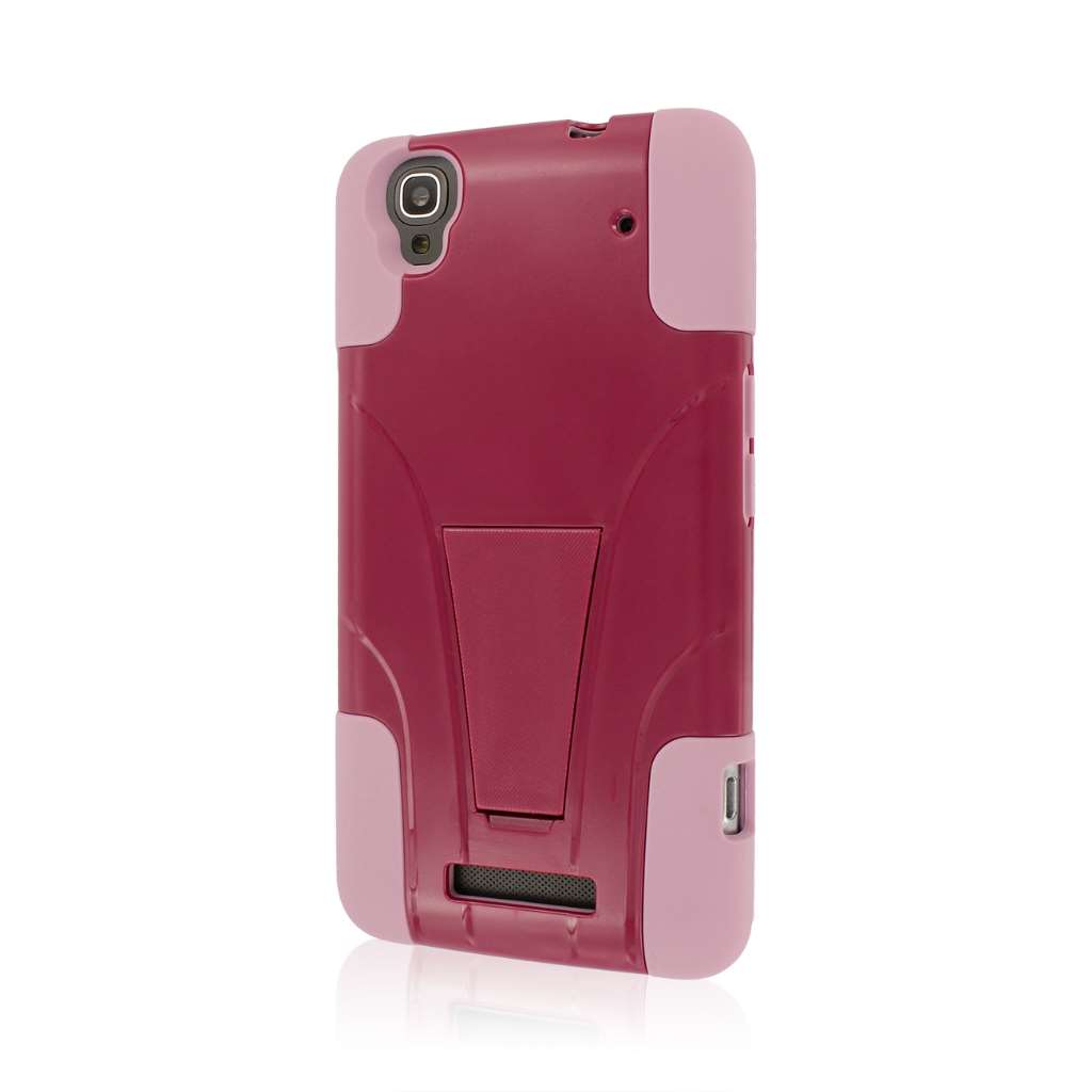 ZTE Max - Hot Pink / Pink MPERO IMPACT X - Kickstand Case Cover