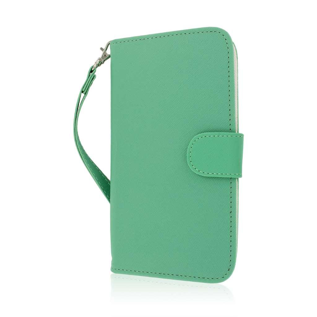 Samsung Galaxy Mega 6.3 - Mint MPERO FLEX FLIP Wallet Case Cover