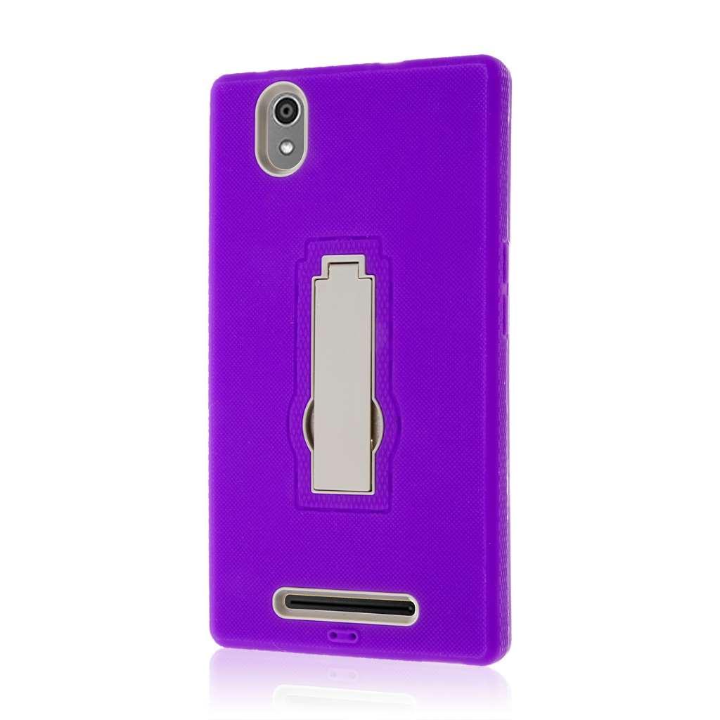 ZTE ZMAX - Purple MPERO IMPACT XS - Kickstand Case Cover