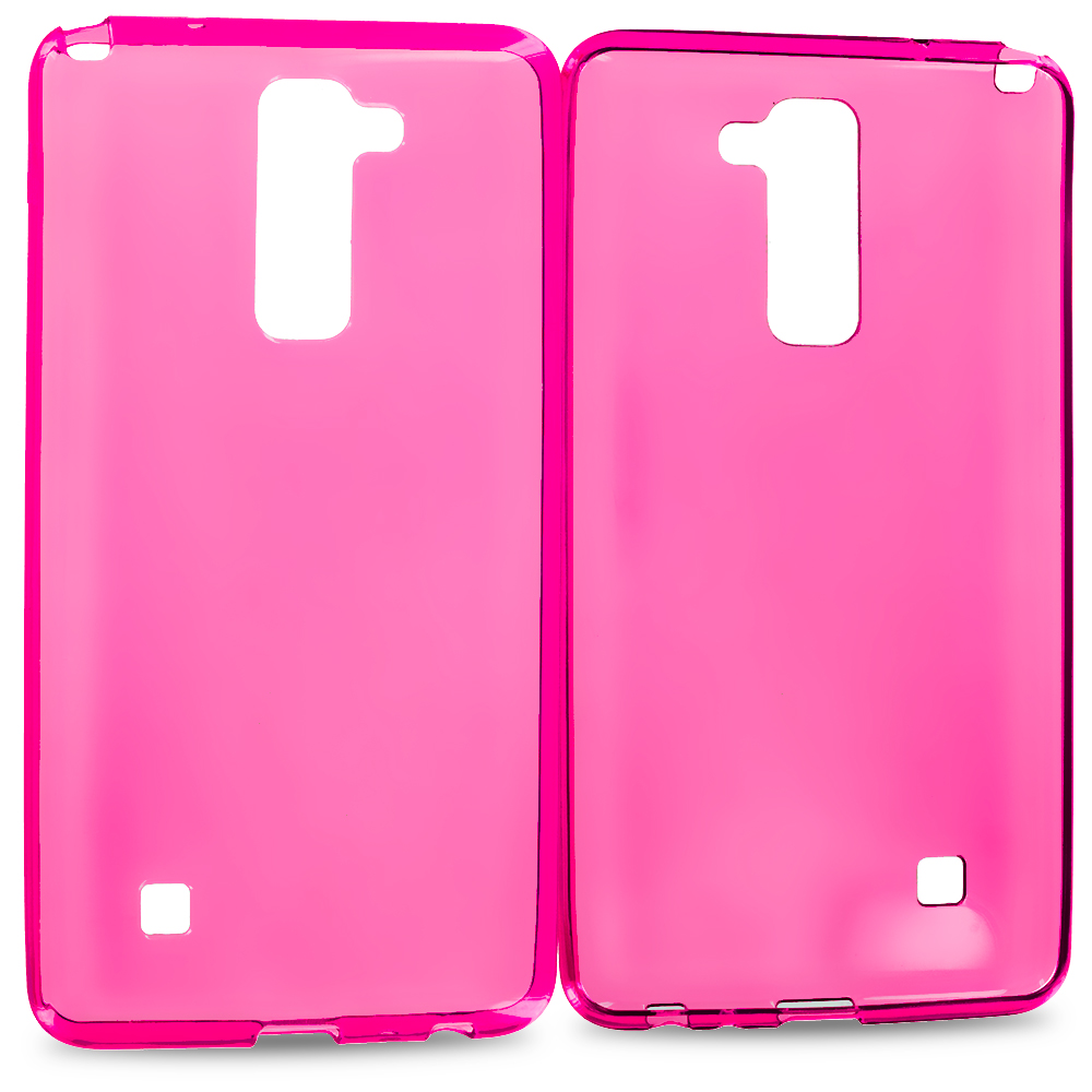 LG G Stylo 2 LS775 Hot Pink TPU Rubber Skin Case Cover