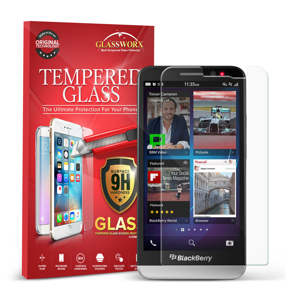 Blackberry Z30 GlassWorX HD Clear Tempered Glass Screen Protector