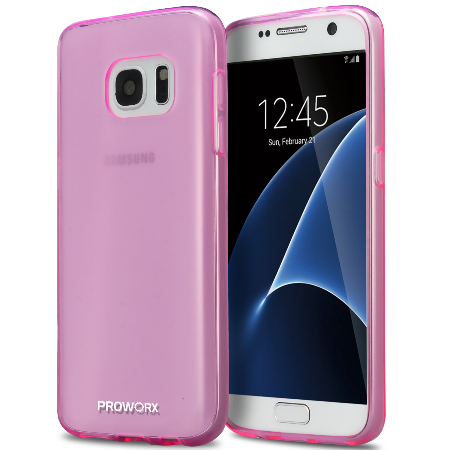 Samsung Galaxy S7 Hot Pink ProWorx Ultra Slim Thin Scratch Resistant TPU Silicone Case Cover