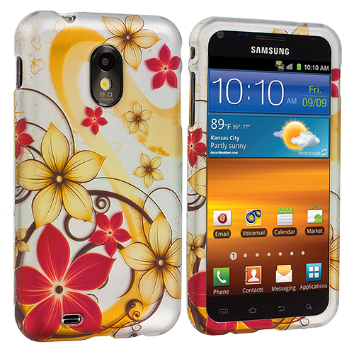 Samsung Epic Touch 4G D710 Sprint Galaxy S2 Dream Flower Hard Rubberized Design Case Cover