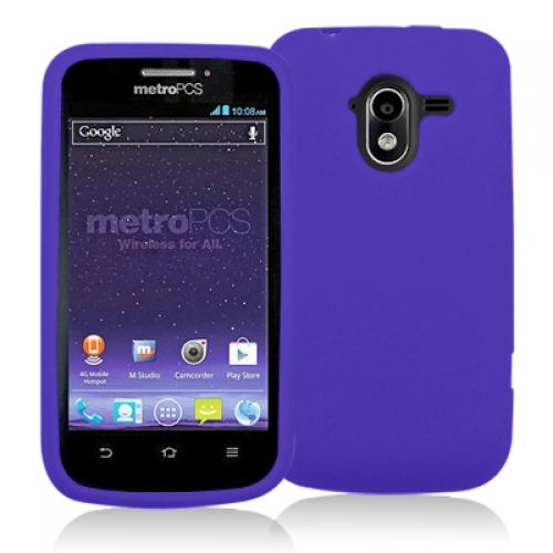 ZTE Avid 4G N9120 Purple Silicone Soft Skin Case Cover