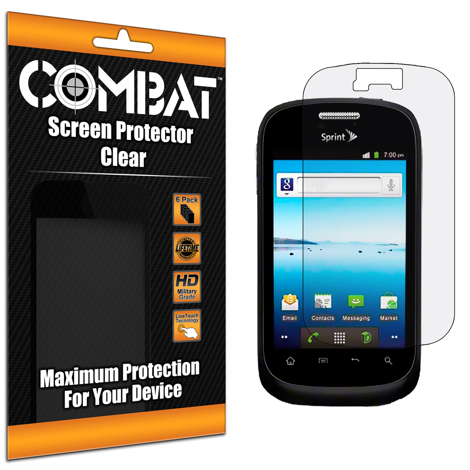 ZTE Fury N850 Combat 6 Pack HD Clear Screen Protector