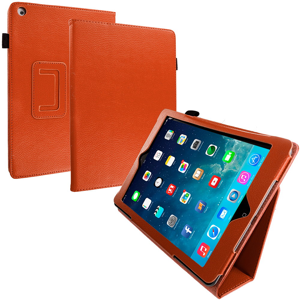 Apple iPad Air Orange Folio Pouch Case Cover Stand