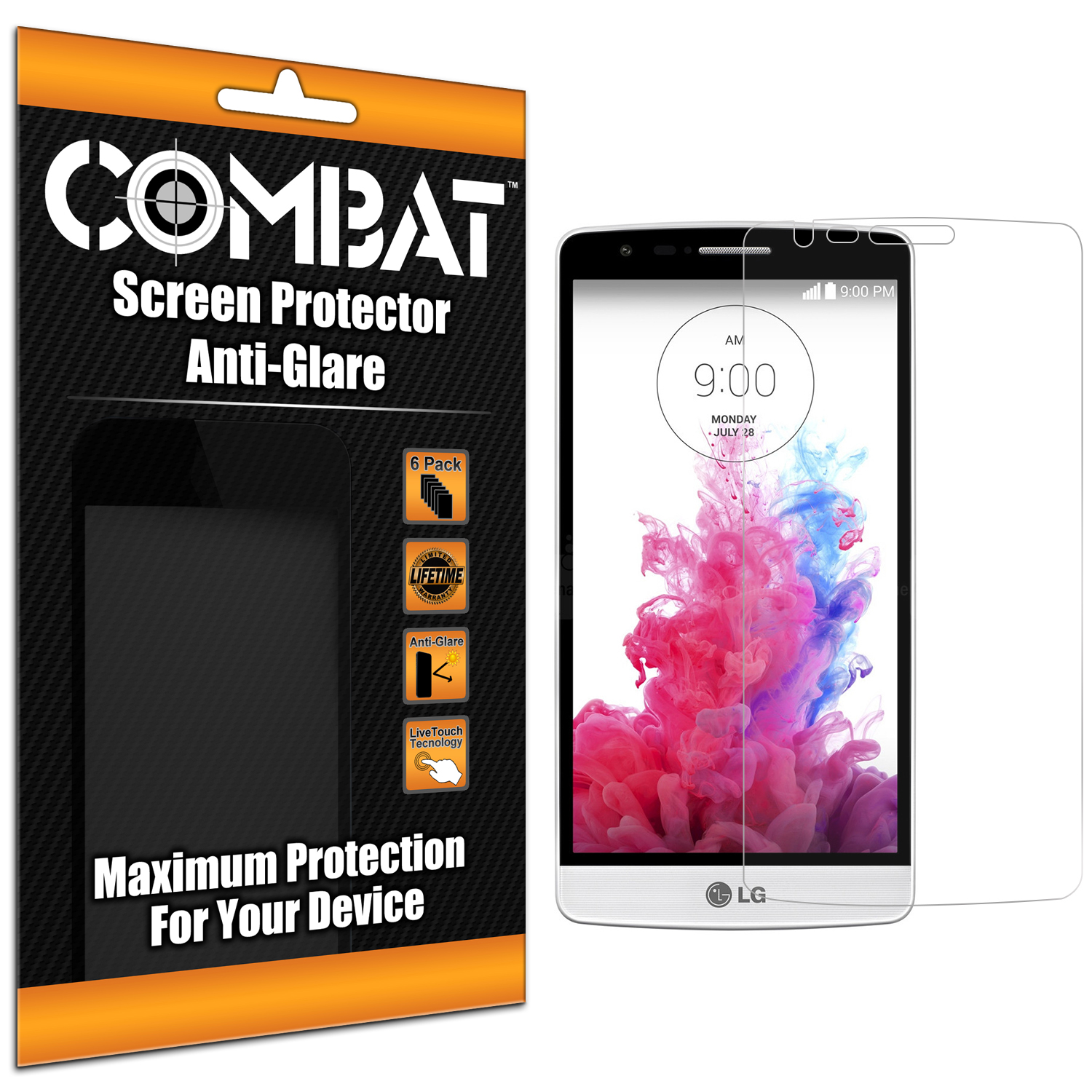 LG G3 Vigor D725 G3s Combat 6 Pack Anti-Glare Matte Screen Protector